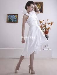 robe mariã e courte robe mariée asymétrique robe de mariage trapèze ivoire en satin