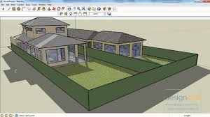 using sketchup to view a model of a two story house youtube