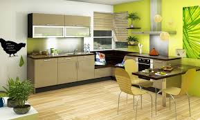 cuisine beige et cuisine vitaminée glossy glam beige vert idée de décoration cuisine