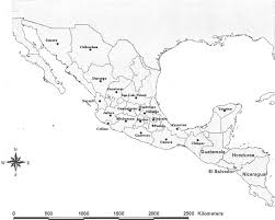 map of mexico and america map of mexico and central america with states mentioned in the text