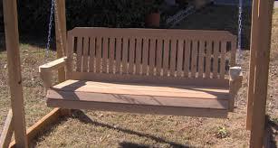 5 Ft Patio Swing With Cedar Pergola Create by Brand New Large Pergola Cedar Garden Arbor U0026 5 Foot Porch