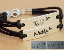 Customized Engraved Bracelets Couples Name Bracelet Name Bracelet Personalized Hand Written
