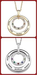 mothers necklace with kids birthstones 133 best mothers necklace with kids names images on