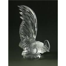 lalique rooster car mascot ornament