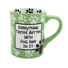Cute Animal Mugs by Amazon Com Our Name Is Mud U201cdog Hair U201d Stoneware Mug 16 Oz