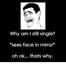 Oh Ok Meme - why am i still single sees face in mirror oh ok thats why meme