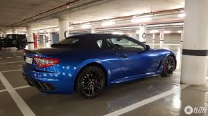 maserati chrome blue maserati grancabrio mc 4 november 2017 autogespot