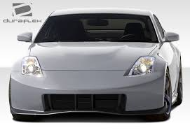 white nissan 350z modified 2003 2008 nissan 350z duraflex n 3 front bumper cover 1 piece