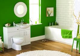 bathroom exciting green and white bathroom design brings