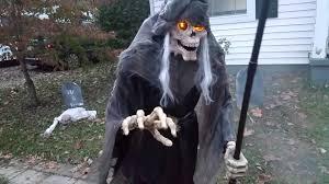 halloween 2015 daytime yard haunt graveyard zombies grim reaper