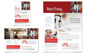 hotel brochure design templates hotel flyer ad template design