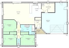 plan de maison 100m2 3 chambres plans maison plain pied 3 chambres stunning plan de maison duun