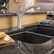 steel water ridge pull out kitchen faucet single hole two handle