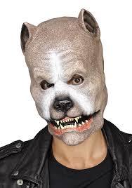 Bull Halloween Costume Brown Pit Bull Dog Mask Snarling Latex Mask Ebay