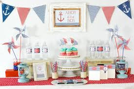 coral baby shower coral and navy nautical baby shower a to zebra celebrations
