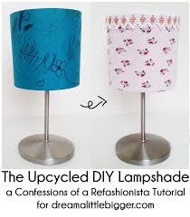 Diy Lamp Shade The Upcycled Diy Lampshade Dream A Little Bigger