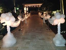 in wonderland balloon decoration white party decoration light