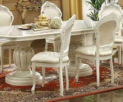 Dining Room End Chairs Leonardo Dining Set Ivory Table China Side And Arm Chairs
