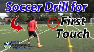 easy soccer drill to improve your first touch and control youtube
