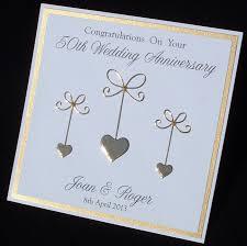 Silver Jubilee Card Invitation Golden Anniversary Card 50th Anniversary Card Wedding