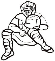 baseball catcher coloring pages coloringstar