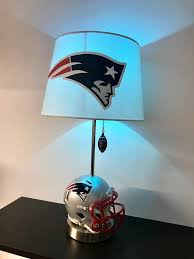 new england patriots lights this is a new england patriots football helmet table l and it is