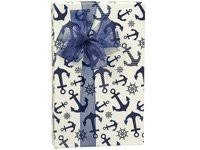 anchor wrapping paper navy blue nautical anchor gift wrap wrapping paper 18ft