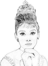 clipart audrey hepburn pencil sketch portrait