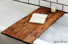 Tray For Bathtub 10 Pallet Projects You Can Make For Your Bathroom