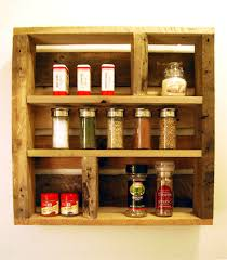 Wood Wall Mount Spice Rack Kitchen Alluring Wall Mount Spice Rack For Your Kitchen