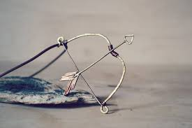 bow and arrow necklace zodiac necklace sagittarius elven