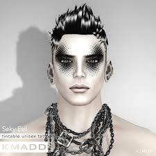 evil halloween makeup kmadd tattoo mad image