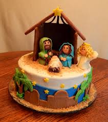 Christmas Cake Decorating Ideas Jane Asher Happy Birthday Jesus A 10 Inch Round 2 Layer Cake With An All
