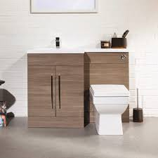 Valencia Bathroom Furniture Valencia Oak Combination Basin Wc Unit Plumbing Co Uk
