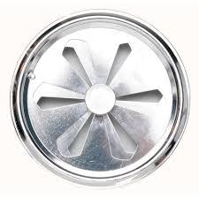 grille aeration chambre grille d aération aluminium chromé diam 12 cm leroy merlin
