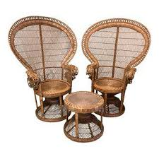 Cane Peacock Chair For Sale Vintage U0026 Used Boho Chic Wingback Chairs Chairish