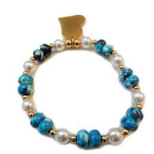 glass pearl bracelet images Bracelet heart glass pearl fancylooks jpg