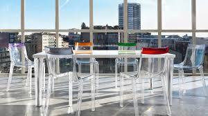 art deco chair polycarbonate transparent by philippe starck