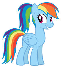 gallery for u003e little clipart my rainbow dash pony