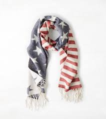 Americana Flags Aeo Americana Flag Woven Scarf Americana American Eagle
