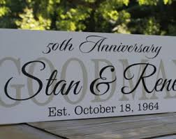 50th anniversary plate engraved 50th wedding gift etsy