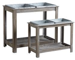 lutrin sur pied en bois potager surélevé en bois et métal lot de 2