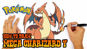 how to draw mega charizard y pokemon youtube