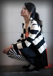 Black White Striped Halloween Costume Halloween Town Stylish Geek