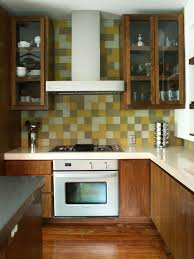 Small Kitchen Backsplash Ideas Pictures by Decor Oak Kitchen Cabinets With Simple Amerock And Peel And Stick