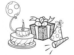 birthday stuff coloring activity pages birthday stuff coloring page