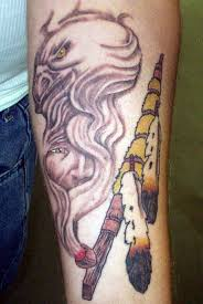 unique pipe with smoke tattoo design for forearm