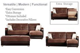 Modern Sofa Bed Sectional Sectional Sofabed Sleeper King Size Luna Brown Futon The Futon