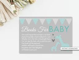 Bring Book Instead Of Card To Baby Shower Bring A Book Card Giraffe Baby Shower Teal And Gray Giraffe