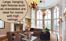 key points to think of when decorating rooms with high ceilings